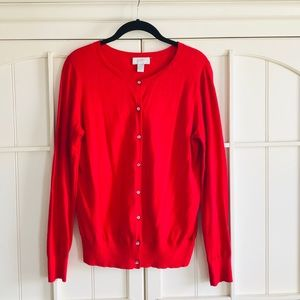 ✨LOFT Red Button Down Cardigan (Size:M)